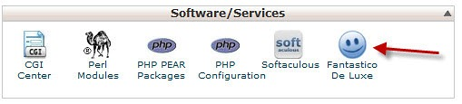 cpanel-fantastico button