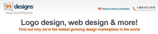 99 Designs - freelance graphic designers website