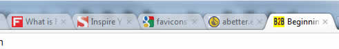 favicons used in  browser tabs to identify blog
